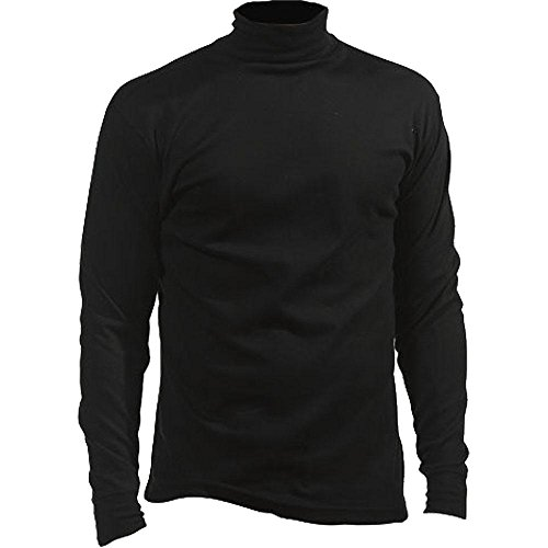 (Fera Mens Cotton Turtleneck Medium Black)