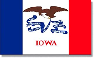 product image for 4X6' Iowa 2ply Polyester State Flag