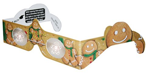 Holographic Glasses: 3D Gingerbread Man at Every Bright Point of Light