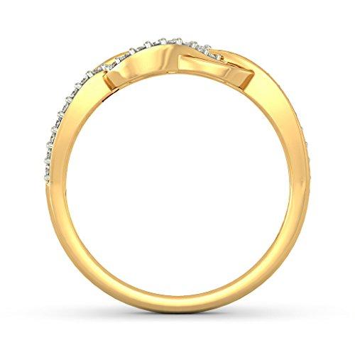 Or jaune 18K, 0.17CT TW Diamant Blanc (IJ | SI) en diamant