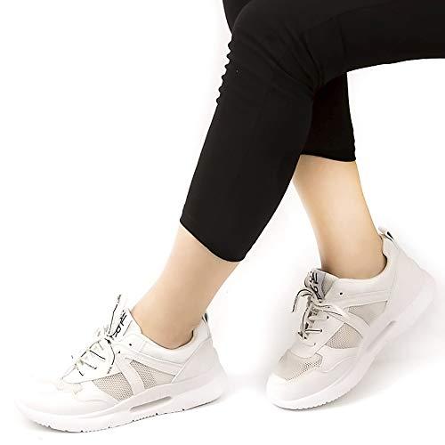 Verano Zapatillas Transpirables Plataforma Suela Mujeres Primavera Casual Suave Femeninos Zapatos White Calzado Otoño Blanco GUNAINDMX Negro OwxYWqXvvU