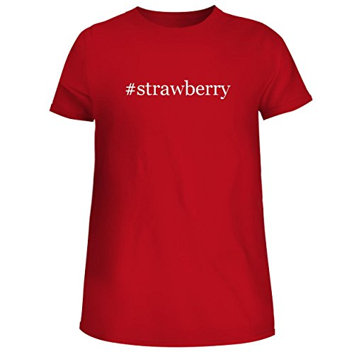 BH Cool Designs #Strawberry - Cute Women's Junior Graphic Tee, Red, X-Large (Junior Seed Cake)