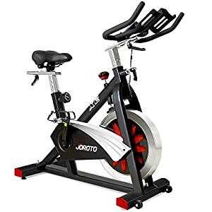 Well-Being-Matters 41E2L-U2MOL._SS300_ JOROTO Belt Drive Indoor Cycling Bike with Magnetic Resistance Exercise Bikes Stationary ( 300 Lbs Weight Capacity…