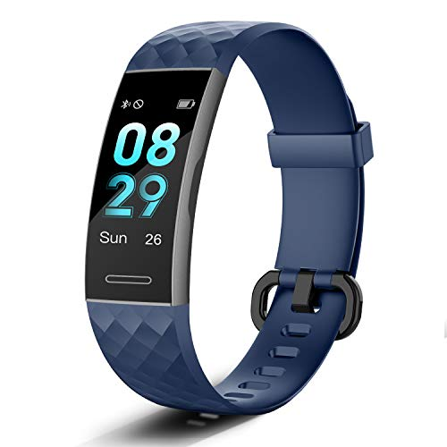 Letsfit Fitness Tracker, Activity Tracker with Heart Rate Monitor, Pedometer Watch with Sleep Monitor, Step Calorie Counter, IP68 Waterproof Smart Bracelet for Women and Men