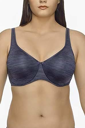 Hestia Women's Minimising Back Smoother Bra, Charcoal, 14DD
