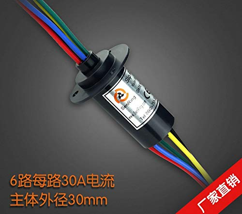 FINCOS Large Current Conductive Slip Ring Collector Ring 6 Way 30A Current
