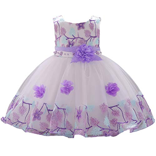 1 Year Old Purple Vintage African Summer Formal Dresses for Girls 6-12 Months 9M Easter Christmas Floral A Line Baby Girl Toddler Dress 12M Lilac Lavender ()