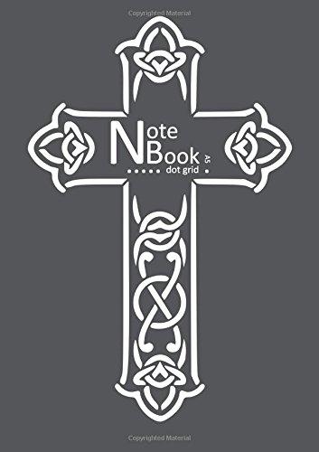 Read Online NB Notebook Dot Grid A5: Gray, Cross Design (Bullet Journals) ebook