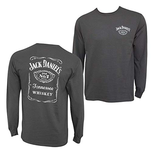 Jack Daniels Label Back Cartouch Front Long Sleeve Tee-XL