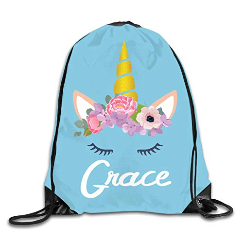 Personalized Drawstring Backpack Bag Custom Kids Sackpack Sport Gym Cinch Bag]()
