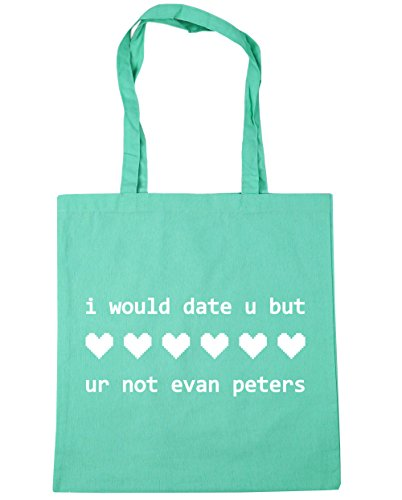 HippoWarehouse I would date u but ur not evan peters Tote Shopping Gym Beach Bag 42cm x38cm, 10 litres Mint