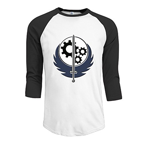 Price comparison product image Fallout Sword With Wings Decal Loose-Fit 3/4 Sleeve Shirt Designed For Men