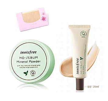 BUNDLE – Innisfree No Sebum Mineral Powder 0.18 Oz 5g Blur Primer 0.85 Oz 25Ml SoltreeBundle Natural Hemp Paper 50pcs