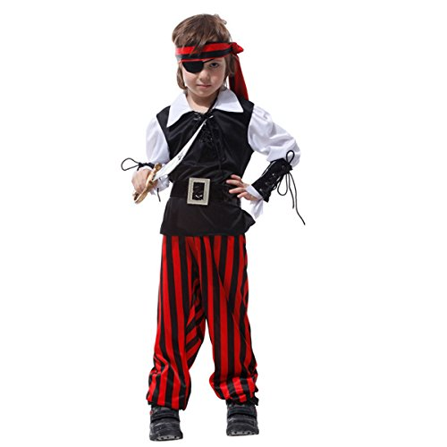 Cyclops Costumes Ideas (Kid's Halloween Costume Party Dress Up Cosplay One-eyed Pirate Full Suits Outfit)