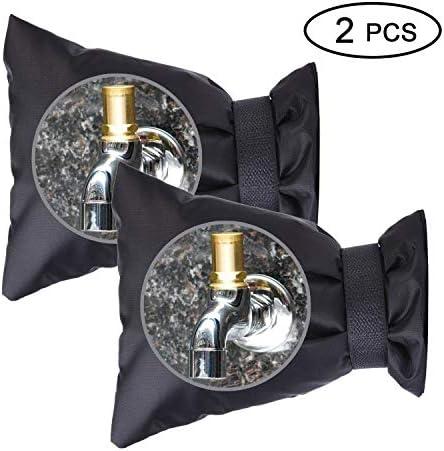 [해외]Outdoor Faucet Cover - Faucet Socks - Set of 2 outdoor spigot cover (Black) / Outdoor Faucet Cover - Faucet Socks - Set of 2 outdoor spigot cover (Black)