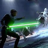 YDD Star Wars LED Light Up Saber Force FX Sword Heavy Dueling, Rechargeable Lightsaber, Loud Sound Hight Light with FOC, Metal Hilt Light Sword , Chrismas Toy Gift for Kids(Black Hilt Green Blade)