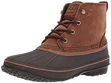 UGG Men's ZETIK Rain Boot, chestnut, 9.5 Medium US