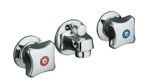 KOHLER K-8040-2A-CP Triton Shelf-Back Lavatory Faucet, Polished -