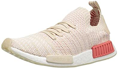 adidas Originals Women's NMD_R1 STLT PK Running Shoe, Linen White, 5 M US