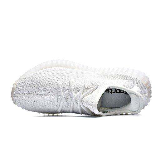 Zigor Mænds Kvinder 350 V2 Åndbare Letvægts Atletisk Sneakers Hvide 5rwfAiPKe
