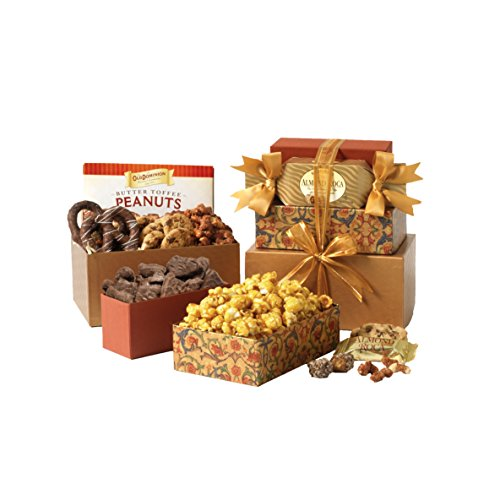 Broadway Basketeers Thinking of You Gift (Gourmet Gift Tower)