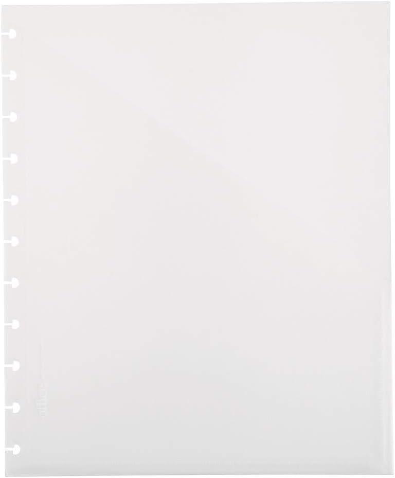 Office by Martha Stewart 1890767 Discbound Pockets 3 PK Junior Size Clear Plastic (44474)