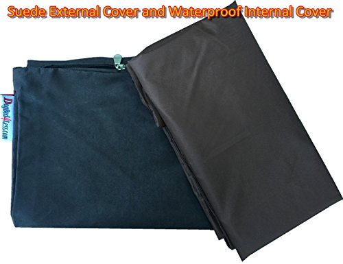 Do It Yourself DIY Pet Bed Pillow Duvet Suede Cover + Waterproof Internal case for Dog/Cat at Medium 36''X29'' Espresso Color - Covers only by Dogbed4less (Image #2)