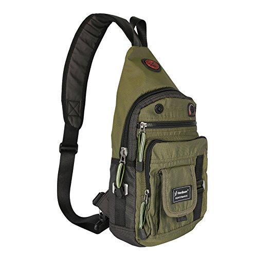 Athletic Mesh Messenger Bag - Vanlison Crossbody Sling Bag Backpack for Men & Women Green