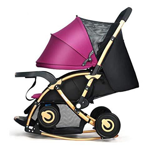 幼児のベビーカーの移動システムコンビのベビーカーのオフロード車の雨カバー蚊帳ネットの重量の瓶折り畳み式  Purple B07H1DKM7R