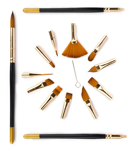 fabart-15-piece-interchangeable-artist-paint-brushes-for-watercolor-acrylics-oils-face-painting