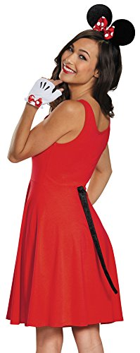 Womens Halloween Costume- Minnie Mouse Adult Gloves Ears & -