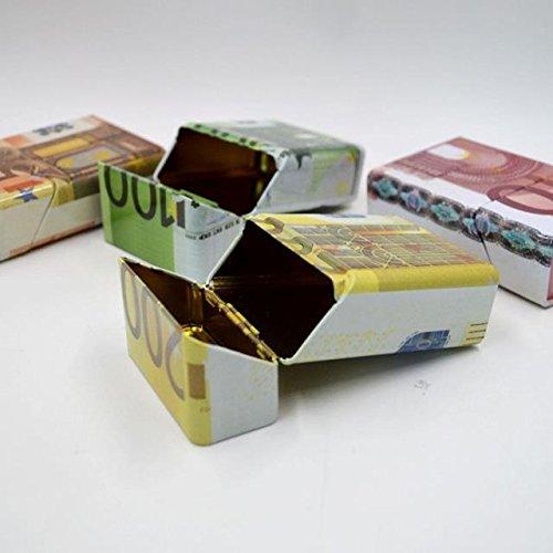 Personnalisé Euro Motif Monté Mutilcolor Abby Étui Pcs dollar En 1 Fer Cigarettes Cas 20 Métal À Cigarette Blanc PAtAqwzHx