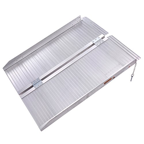 - Portable Folding 3FT Aluminum Wheelchair Loading Ramp with Ebook