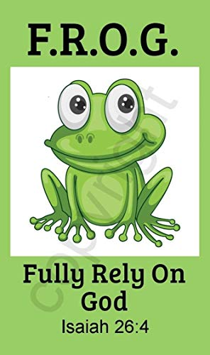 Biblebanz Green Fully Rely on God Frog F.R.O.G. Pocket Prayer Cards Isaiah 26:4 (25 Count) -