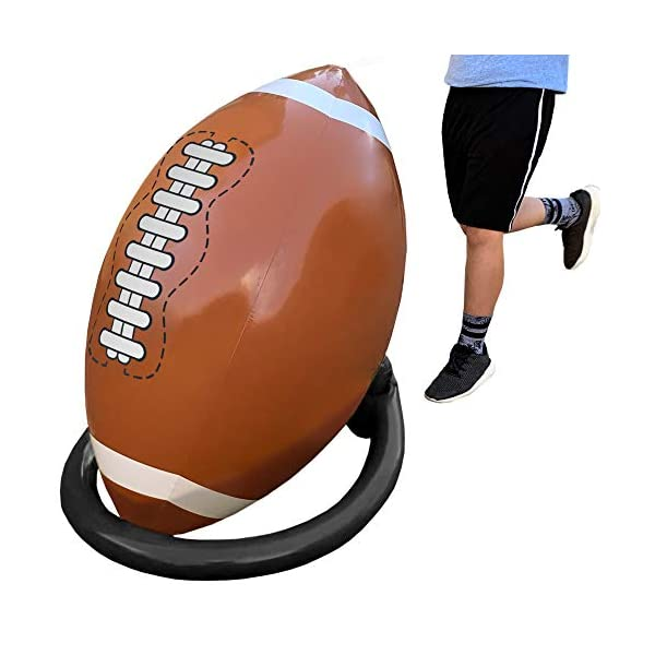 Island Genius Giant Inflatable Football and Tee – Party Decorations Sports...