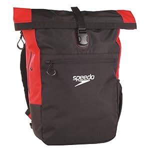 Speedo Rucksack Team Rsck III Au Black/red - Bolsa para material de natación, color negro / rojo, talla Talla única