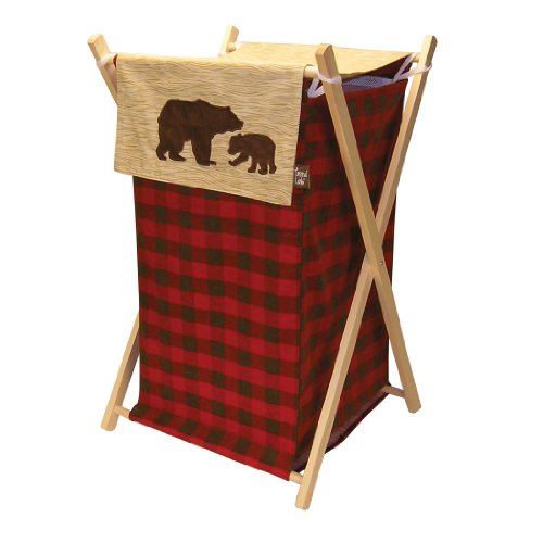 Trend Lab Northwoods Hamper Set, Red/Tan (Baby Boy Hamper Gifts)