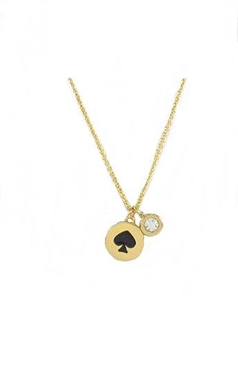 0335695c1fa20b Amazon.com: Kate Spade Spot the Spade Necklace: Jewelry