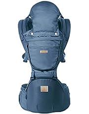 Happy Walk Mochila Portabebés Ergonómica 6 en 1 Ajustable, Múltiples Posiciones y Transpirable Baby Carrier con Asiento para Recién Nacidos y Bebés(Azul)