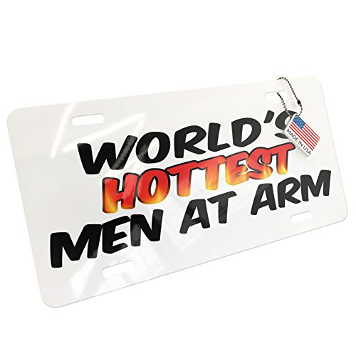 Metal License Plate Worlds hottest Men At Arm - - Men Hottest In Metal