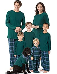 Family Christmas Pajamas Set - Cotton Flannel, Plaid