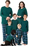 PajamaGram Christmas Pajamas for Family - Flannel, Green, Women's, 1X, 16-18