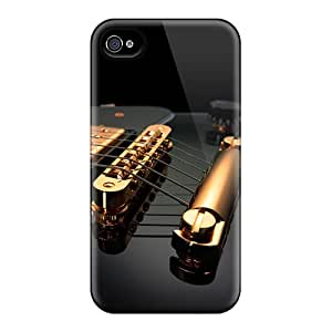LbHfrxr2434IqcZy Case Cover Black Guitar Iphone 4/4s Protective Case