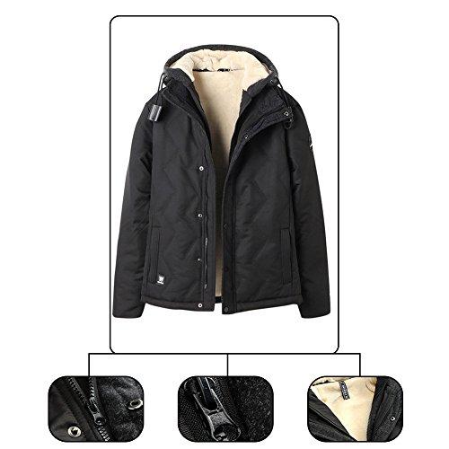 Noir Manteau L'intérieur Velours En Parka Homme Coat Blouson Jacket HqI18vwn