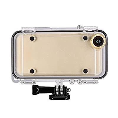 LSoug waterproof case for iPhone6 6s 4.7inch with 170°wide angle lens like action camera compatible with GoPro accessories