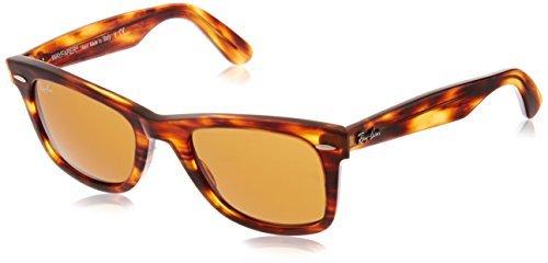 Ray-Ban 0RB2140 Original Wayfarer Sunglasses, Light Tortoise, 50mm by RAY-BAN