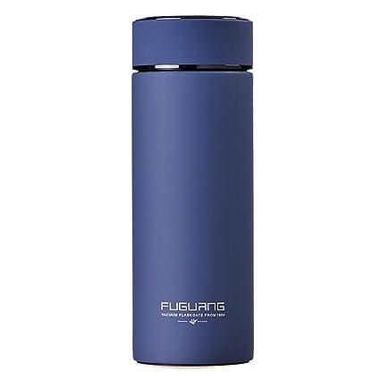 B•You Termo,Botella de Agua de Acero Inoxidable 400ml Armada Aislado Diseño a Prueba de Fugas Termo liquido con Fuga de té para Agua fría y Caliente ...