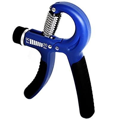 Fitness Master Hand Grip Strengthener with Adjustable Resistance from 20 to 90 lbs