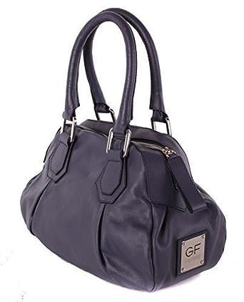 03252872bd9f2 Gian Franco Ferre Damen Handtasche Tasche Echtleder Grau-Blau X187 ...