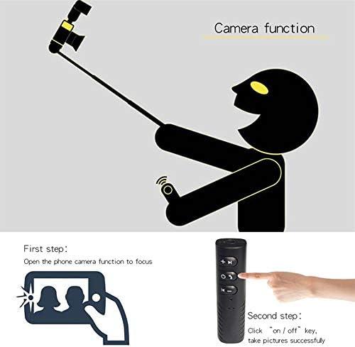 ankunlunbai Jack 3,5 mm R/écepteur du v/éhicule sans Fil Musique Audio Adaptateur Voiture Car Kit BT2, Noir